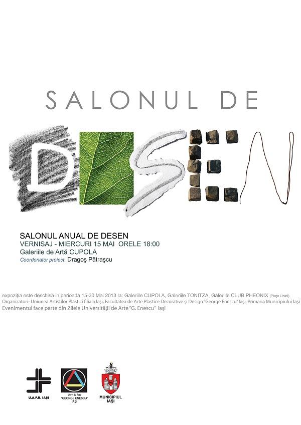 """Expoziția """"Salonul de Desen""""/ Afis Iasi"""