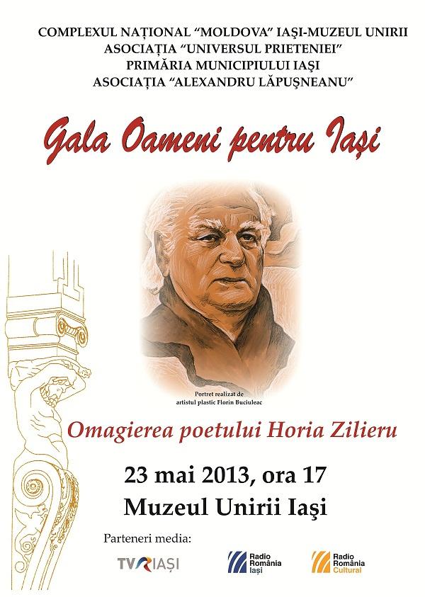 Omagierea poetului Horia Zilieru/ afis iasi