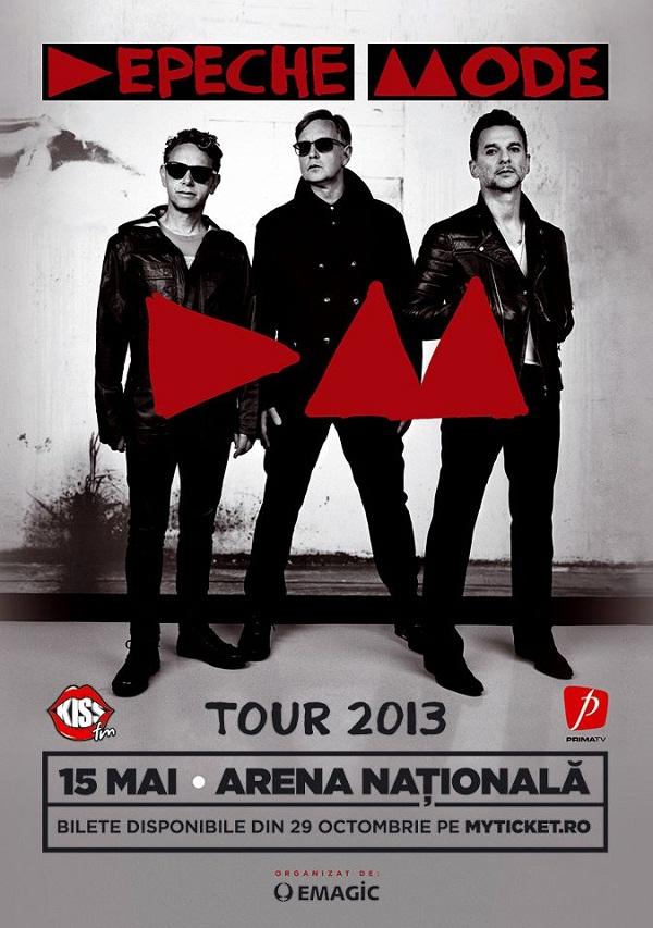 Concert Depeche Mode pe Arena Nationala din București/ Afis