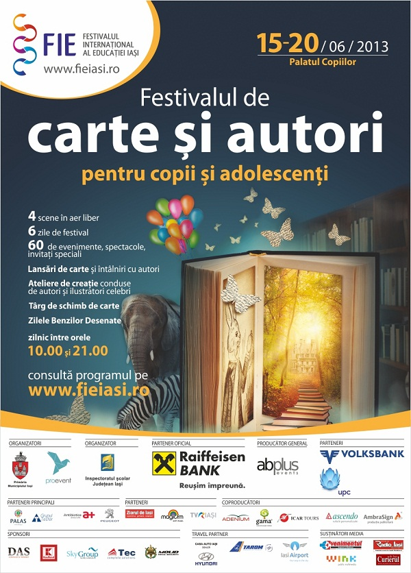 FIE: 900 de copii, la Festivalul de Carte şi Autori pentru Copii şi Adolescenţi/ afis