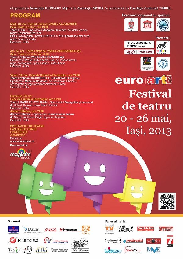 EuroArt Iași 2013/ Afis - festival de teatru