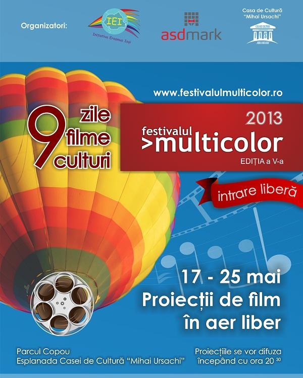 Festivalul Multicolor la Iași/ Ediția a V-a/ Afis Iasi