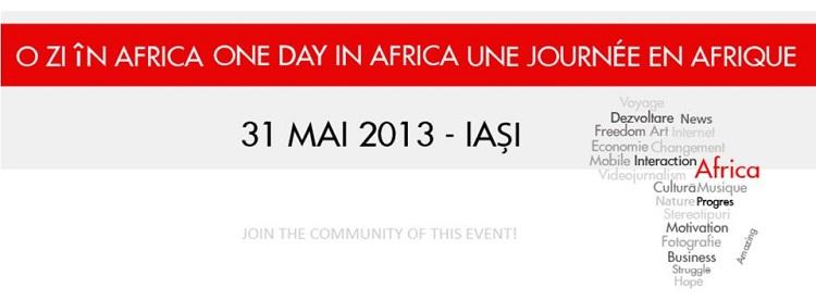 """O serie de activități cu tema """"O zi în Africa""""/ afis iasi"""