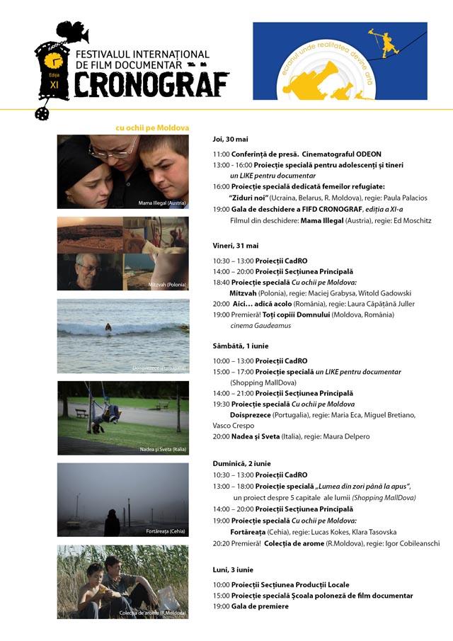 Program complet: Cronograf 2013