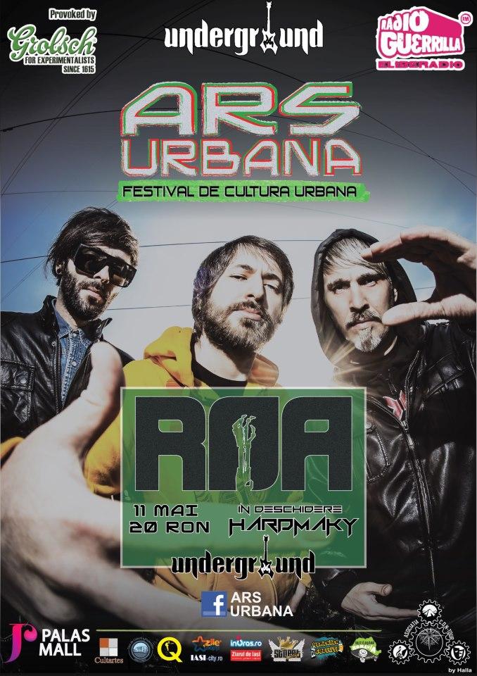 concert R.O.A ars urbana Underground/ afis Iasi