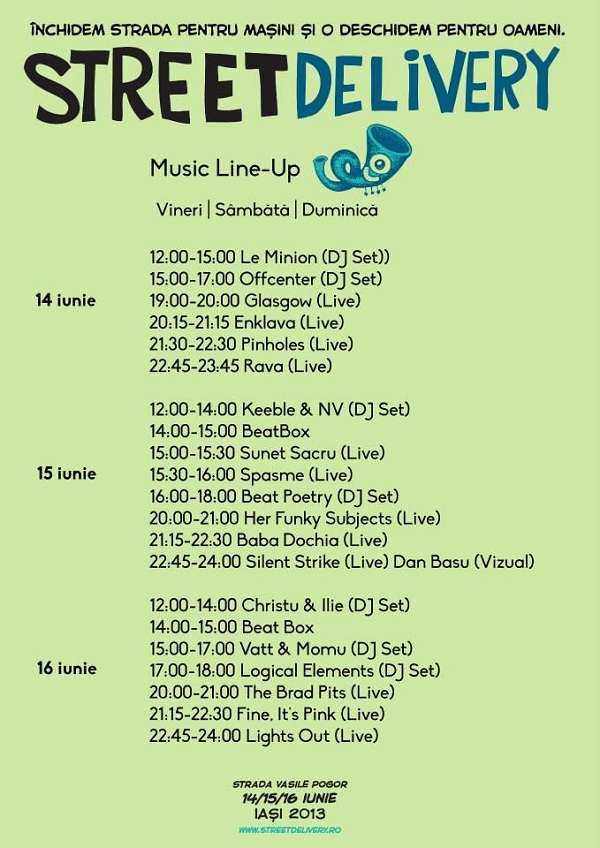 Street Delivery/ program Music Line-up afis