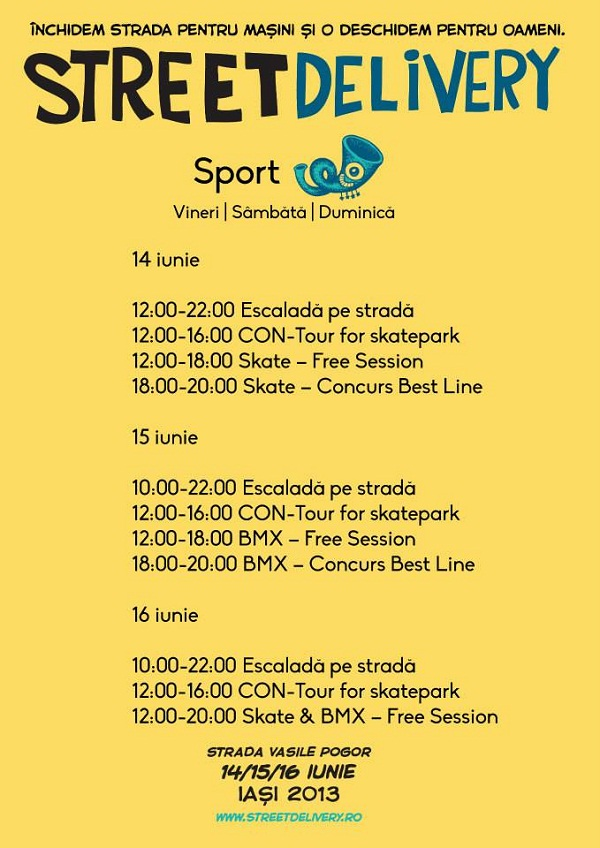 Street Delivery Iasi 2013/ Sport afis