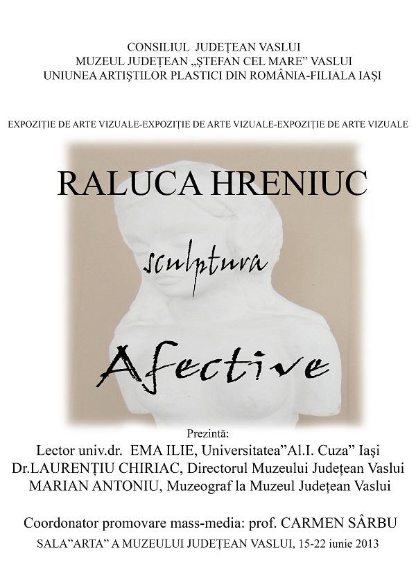 """Expoziția de arte vizuale """"Ritmuri. Structuri. Mistere. Experimente. Afective""""/ AFIS RALUCA HRENIUC"""