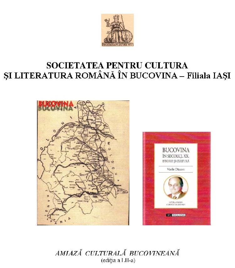 """Lansarea cărții """"Bucovina în secolul XX""""/ 23 iunie 2013/ afis iasi"""