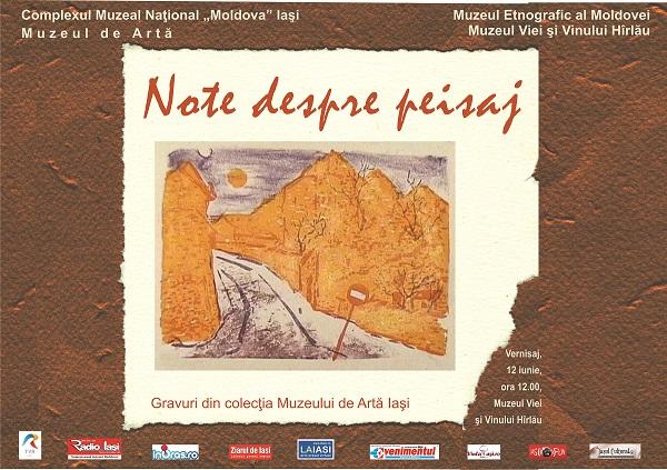 "Expoziția ""Note despre peisaj""/ afis iasi"