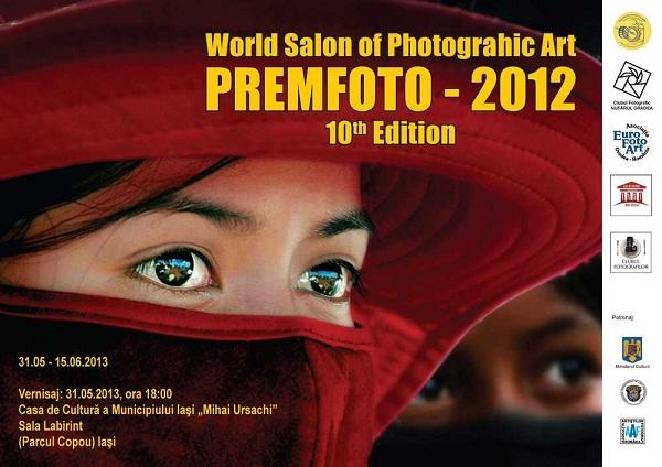 """Salonul Internaţional de Artă Fotografică """"Premfoto""""/ afis iasi"""