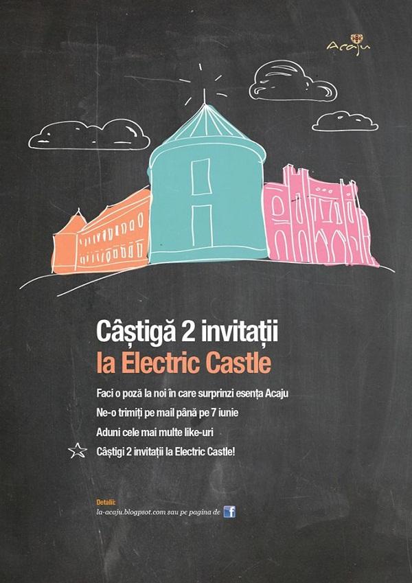 Câştigă 2 invitaţii la Electric Castle de la Acaju/ afis iasi