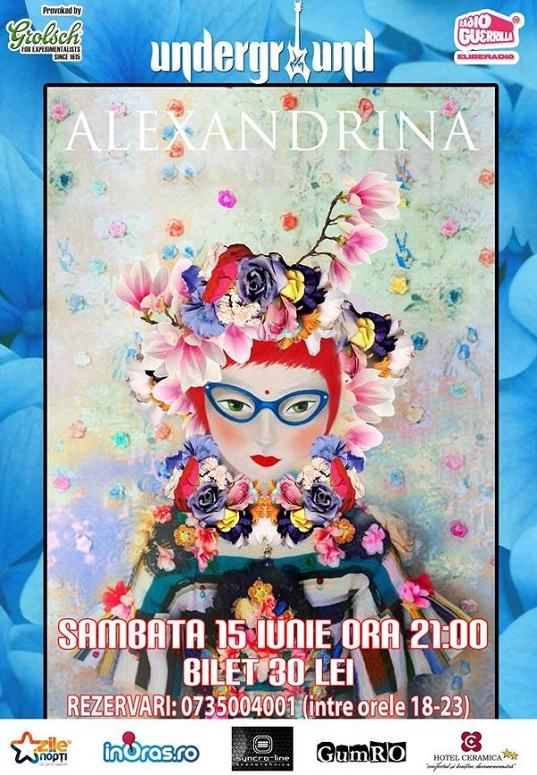 Concert Alexandrina în Iași/ afis underground