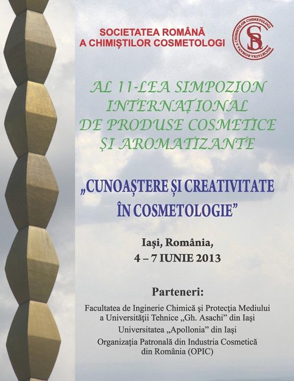 Cunoaștere și Creativitate în Cosmetologie, al XI-lea Simpozion Internațional din România de produse cosmetice și aromatizante/ afis