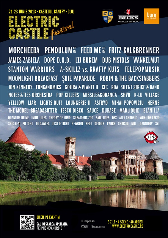 Electric Castle Festival/ Banffy Castle, Cluj Napoca/ afis