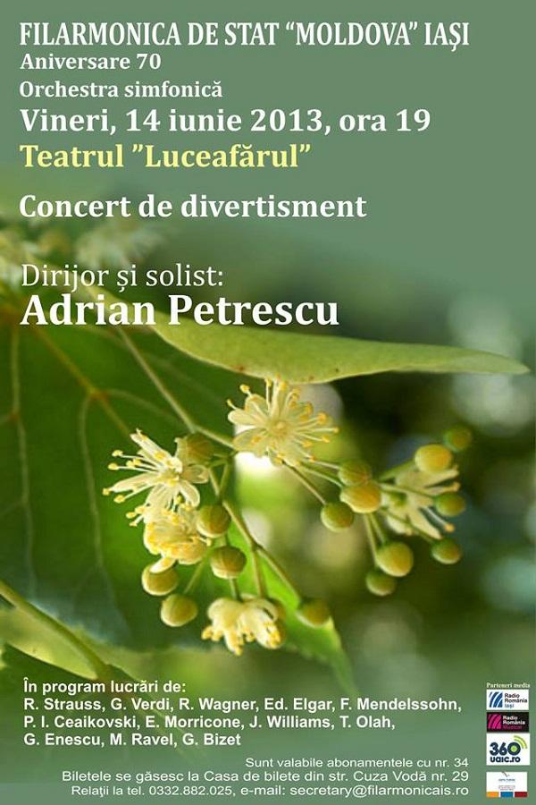 Concert de Divertisment la Teatrul Luceafărul și Palas Mall/ afis