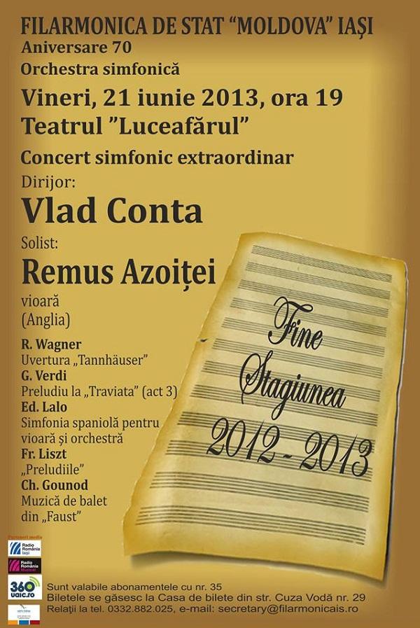 Concert simfonic Teatrul Luceafarul Afis Iasi