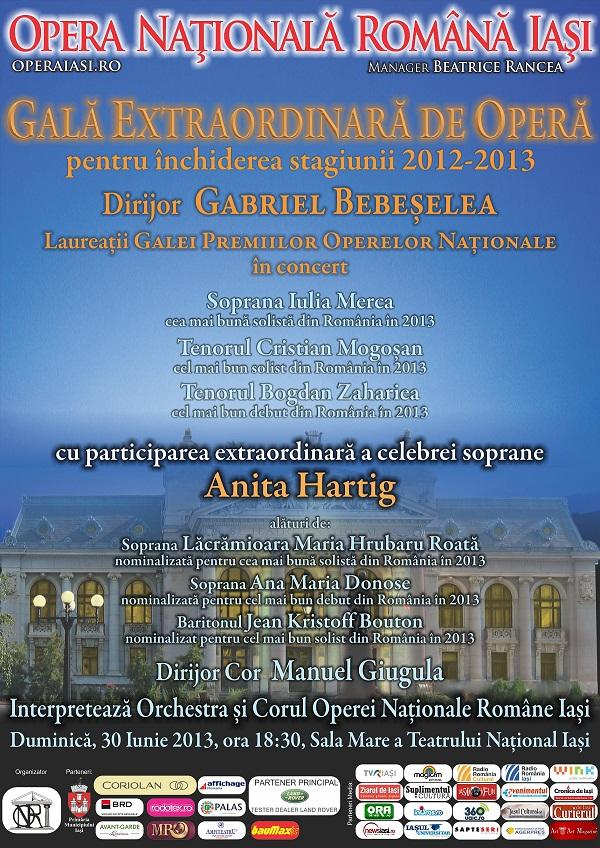 Gala extraordinară de Operă la Iași/ 30 iunie/ afis