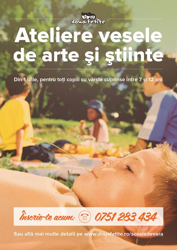 """Școala de Vară """"Două Fetițe""""/ 1 iulie – 19 august/ afis iasi"""