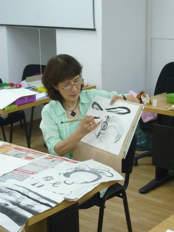 Inițiere în Sumie, pictură japoneză în tuș. Scurtă descriere a cursului