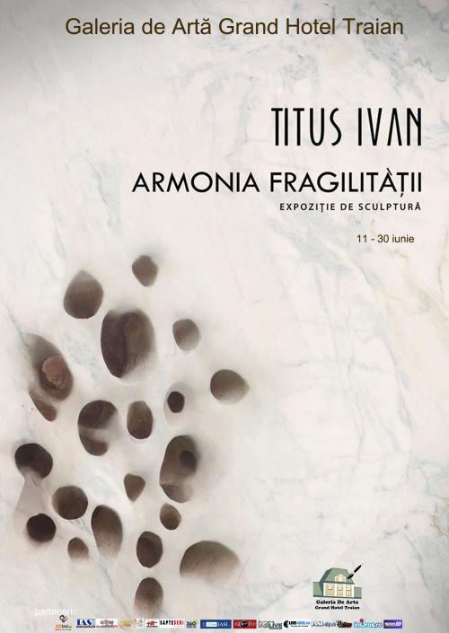 """Expozitia de sculptură """"Armonia fragilitatii""""/ afis iasi"""