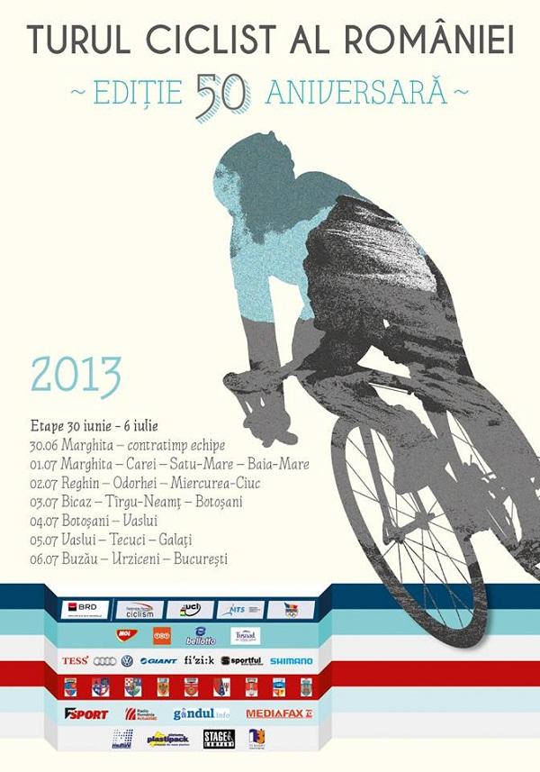 Turul Ciclist al României 2013/ 30 iunie - 6 iulie (Programul etapelor)/ afis