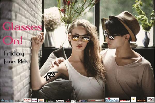 "Petrecerea ""Glasses On"" din ZONA/ afis iasi"