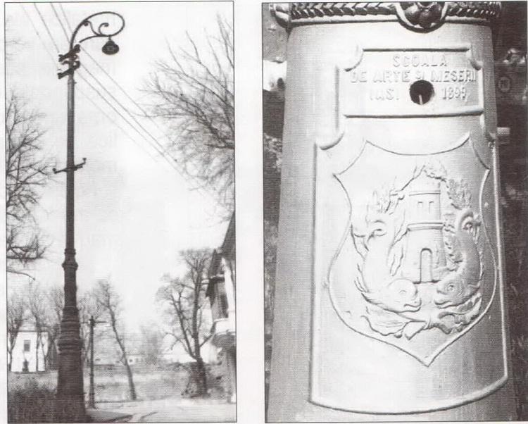 Stâlpi ornamentali ai Uzinei de Lumină (1899) foto iasi
