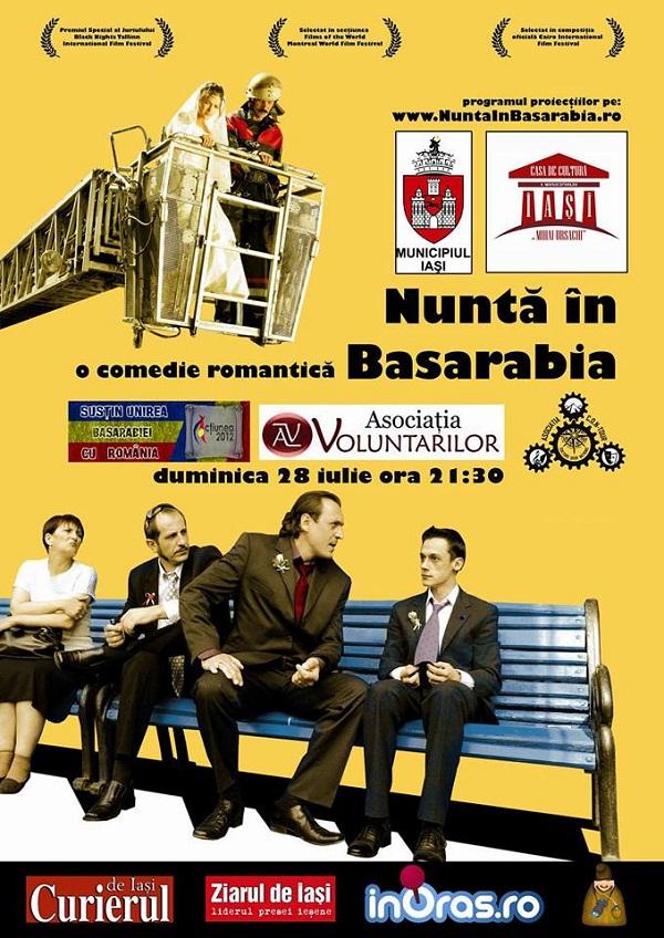 """Discuție şi dezbatere în aer liber a filmului """"Nunta în Basarabia""""/ afis iasi"""