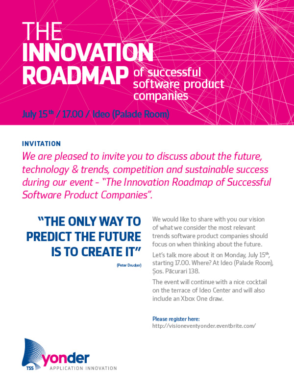 The Innovation Roadmap of Successful Software Product Companies/ 15 iulie/ afis iasi