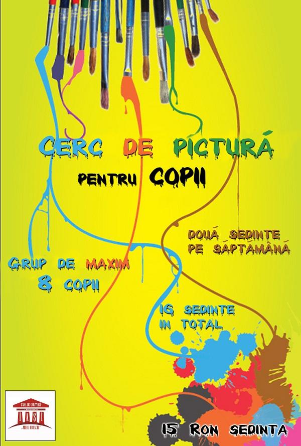 Cerc de pictură pentru copii/ Înscrieri: 1 – 15 iulie/ afis iasi