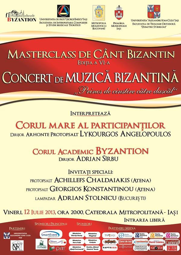 Concertul de muzica bizantina/ afis iasi
