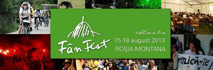 Festivalul FânFest de la Roşia Montană/ 15-18 august/ afis