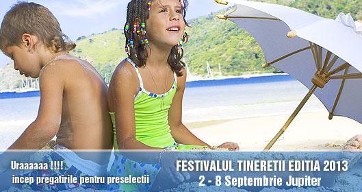 Concurs international de muzică ușoară și folclor: Festivalul Tinereții de la Jupiter/ 2-8 septembrie/ afis