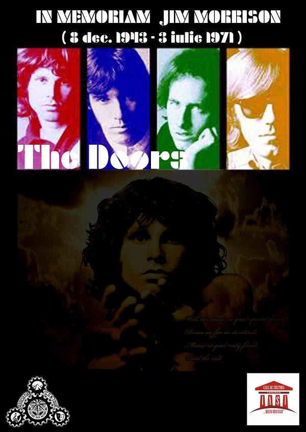 "Film in memoriam Jim Morrison la Casa de Cultură ""Mihai Ursachi""/ afis iasi"