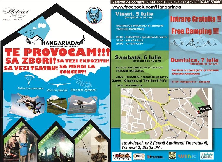 HANGARIADA – Festival de Artă şi Zbor, 5-7 iulie/ Program iasi