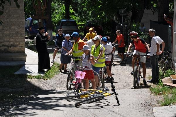 Pelerinaj pe bicicletă la Mănăstirea Cetățuia