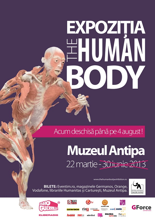 "Expozitia ""THE HUMAN BODY""/ 22 martie - 4 august/ afis"