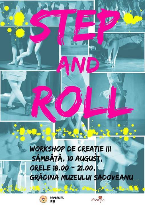 step-and-roll-workshop-de-creatie-papergirl-iasi-acaju-muzeul-mihail-sadoveaunu-iasi-afis