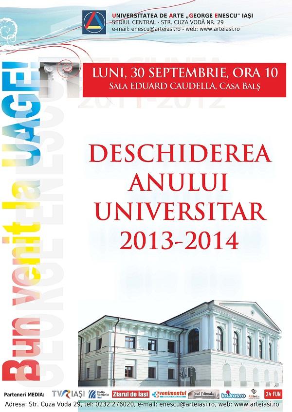 deschiderea-anului-universitar-universitatea-de-arte-george-enescu-iasi-afis-2013