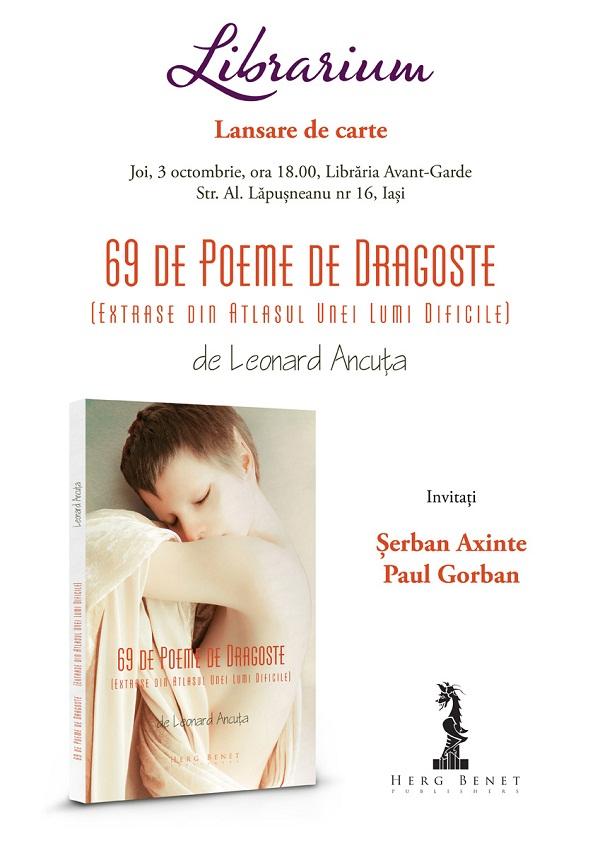 lansare-de-carte-69-de-poeme-de-dragoste-afis-iasi-leonard-ancuta-libraria-avant-garde-librarium