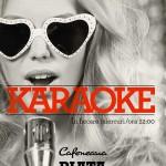 Karaoke la Cafeneau Piata Unirii in fiecare miercuri afis