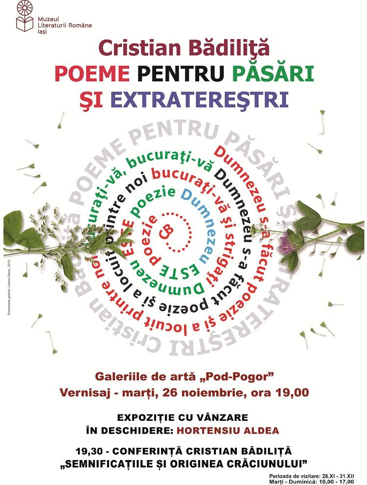 expozitie-cristian-badilita-poeme-pentru-pasari-si-extrateresti-afis-iasi