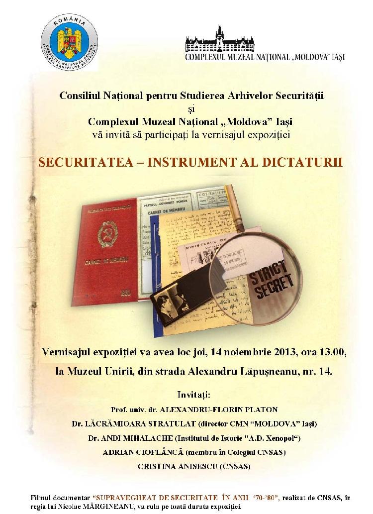 expozitie-intrument-al-dictaturi-muzeul-unirii-14-noiembrie-2013-vernisaj-afis-iasi