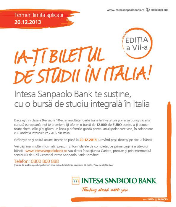 intesa-sanpaolo-bank-burse-de-studiu-italia-elevi-afis-2013-inscrieri-pana-pe-20-decembrie-2013
