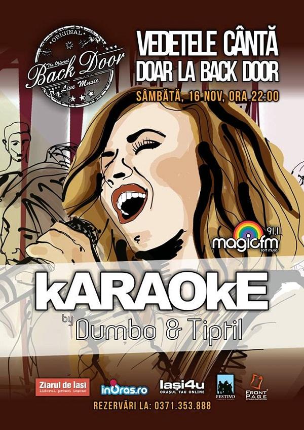 karaoke-back-doar-sambata-afis-iasi