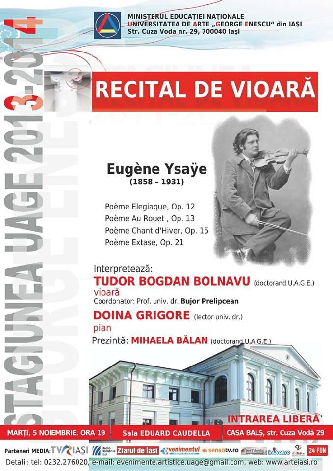 recital-de-vioara-eugene-ysaye-tudor-bogdan-bolnavu-iasi-george-enescu-afis