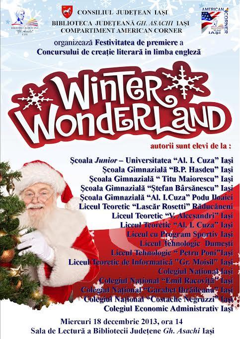 Festivitatea Premiere Winter Wonderland afis iasi 2013
