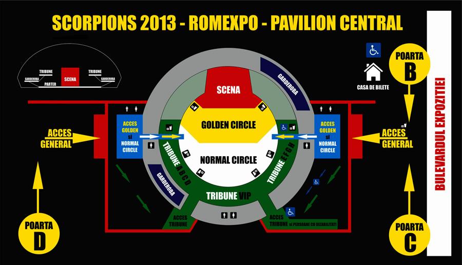 Harta Scorpions 2013 - Romexpo (Pavilion Central)