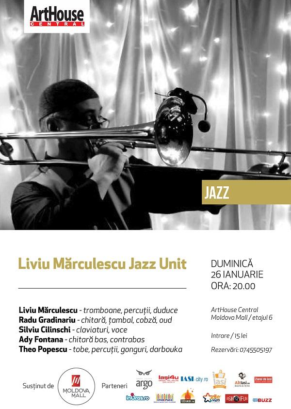 Liviu-Marculescu-Jazz-Unit-afis-arthouse-central-iasi-26-ianuarie-2014